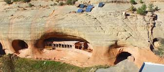 up for auction off the grid cliff house carved into a utah canyon