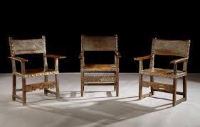 Armchair In Spanish A Mid 17th Century Spanish Walnut Open Armchair Retaining Its