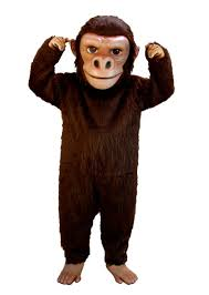 brown costume monkey ape gorilla bigfoot sasquatch chimp mascot costumes