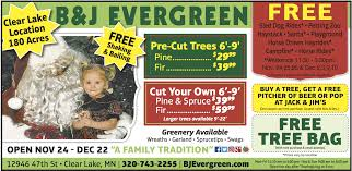 cut your own christmas tree b u0026j evergreen of central minnesota