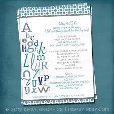 abc colorful alphabet baby bridal shower invitation bring