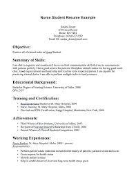 nursing student resume with no experience sle resume registered nurse registered nurse resume nursing