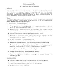 Executive Recruiters Job Description Caterer Job Description Resume Cv Cover Letter