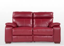 King Koil Sofa by 2 Seater Red Leather Reclining Sofa Rimini