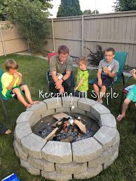 how to build a diy fire pit for only 60 keeping it simple crafts
