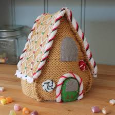 knit your own gingerbread house christmas decoration cosy home
