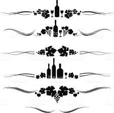 wine ornaments stock vector 165687812 istock