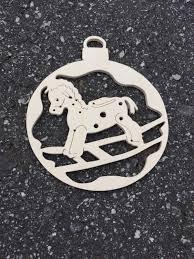 hobby horse ornament wood rocking horse ornament horse ornament