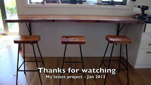 Breakfast Bar Table And Stools Rimu Breakfast Bar And Stools Project Jan 2014 Youtube