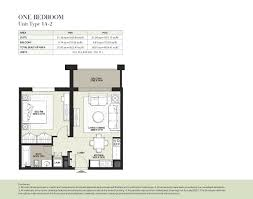 1 Bedroom Apartment Floor Plans by Boulevard By Nshama 1 Bedroom Apartment Type 1a 2 Floor Plan
