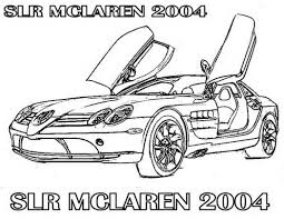 car mclaren slr race coloring page 381370 coloring pages for