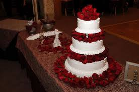 musings of a bride christmas themed wedding the cake