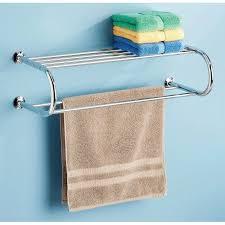 Walmart Bathroom Shelves by Whitmor Chrome Towel Rack With Shelf Walmart Com My Rv Home
