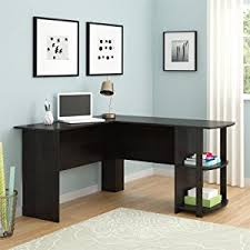 Office Desk Table Amazon Com Ameriwood Home Dakota L Shaped Desk With Bookshelves