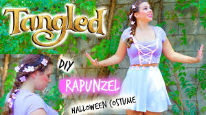 diy rapunzel tangled halloween costume for teen girls hair