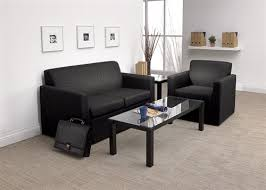 Office Furniture For Reception Area by Global Pursuit 3453 Leather Reception Sofa Office Chairs Outlet