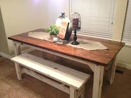kitchen table sets with bench rustic kitchen tables with benches unique rustic dining room sets 4