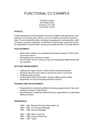 Sample Functional Resume by Functional Cv Example In Word And Pdf Formats