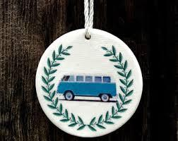 vw bus ornament etsy