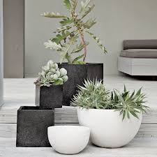 ceramic plant pots white evelots 3 pack of self watering planters
