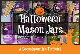 Mason Jar Halloween Lantern Halloween Decorations Halloween Mason Jar Tutorial Youtube
