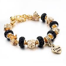 metal bead bracelet images Pandora crystal beads women charm bracelets bangles ken jpg