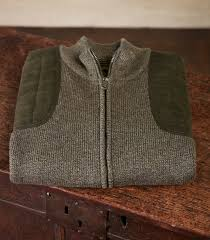 shooting sweater s marled zip front shooting gilet