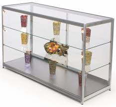 Display Cabinets With Lights Store Showcase Silver Display For Retail