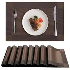 large plastic table mats amazon com akway placemats set of 8 washable table mats cup mat