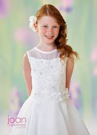 communion dress joan calabrese 118316 drop waist communion dress