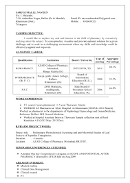 b pharmacy resume format for freshers naveen b pharm fresher resume 1