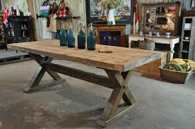 reclaimed trestle dining table reclaimed wood trestle dining table from home barn h o m e