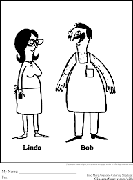 bobs burgers coloring pages free to print bob u0027s burgers