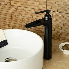 Oil Rubbed Bronze Bathroom Accessories by Waterfall Oil Rubbed Bronze Bathroom Sink Faucet Faucetsuperdeal Com