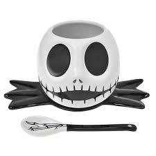 skellington bowl spoon plate set nightmare before