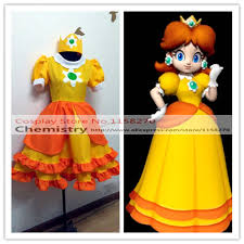 super mario land princess daisy cosplay costume on aliexpress com