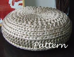 Knitting Home Decor Knitting Pattern Knitted Extra Large Pouf Pattern Poof