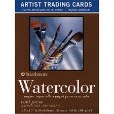 strathmore 400 series watercolor artist trading cards