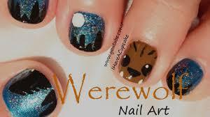 halloween nails werewolf halloween nail art youtube