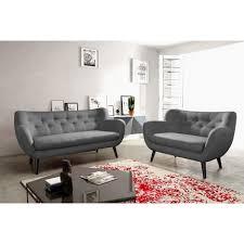 ensemble de canapé ensemble canapés scandinave 3 2 plcs tissu trendy pas cher à prix