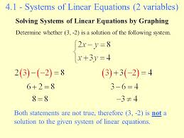 solve systems of equations by graphing 11 2 11 3 7 graphing linear inequalities ppt solve systems of equations