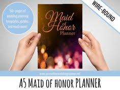 of honor planner book ultimate of honor planner a5 wedding organizer bridesmaid