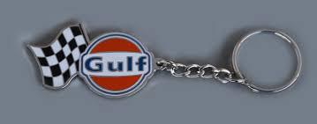 gulf racing logo gulf racing keychain