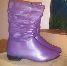 womens boots size 8 gianpaolo mattiozzi purple leather slouch boots size 8