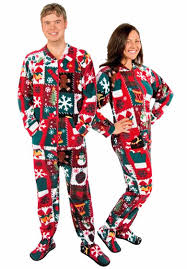 Sweater Pajamas Sweater Footed Pajamas For Adults Fleece With Drop