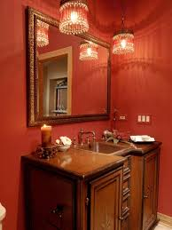Unique Faucets Pink And Silver Bathroom Recessed Shelving Beside Bathtub Orange