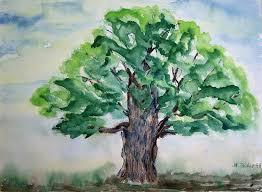 tree painting image free image on pixabay