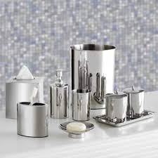 silver bathroom accessories for less overstock com