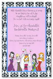 bachelorette party invitation wording to be damask border invitations bachelorette party