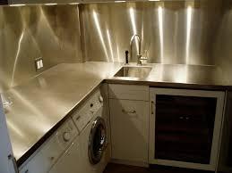 Kitchen Stainless Steel Backsplash Stainless Steelsplash With Glass Tile Range Kitchen Ideas Images